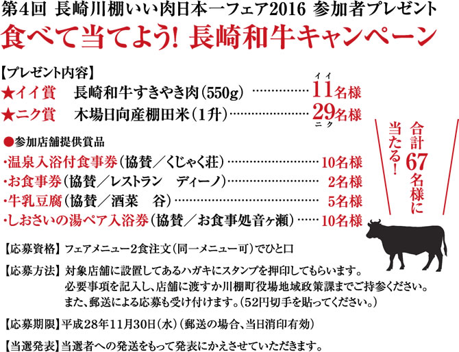 食べて当てよう!長崎和牛キャンペーン